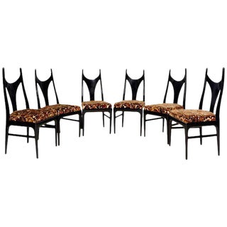 Eugenio Escudero Set of Six Manta Ray Style Dining Chairs For Sale