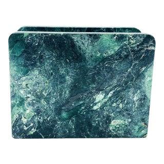 Vintage Green Marble Napkin/Mail Holder For Sale