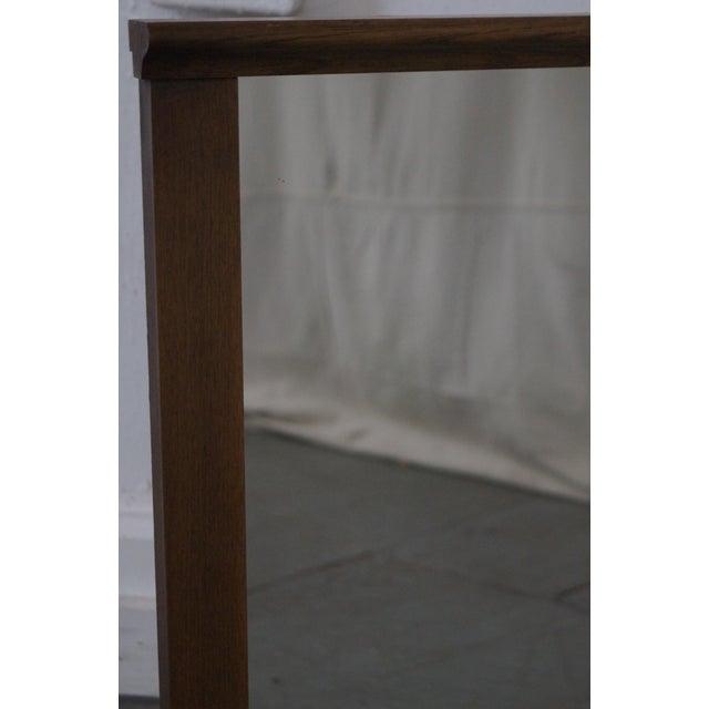 Mid-Century Modern Walnut Rectangular Wall Mirror - Image 5 of 10