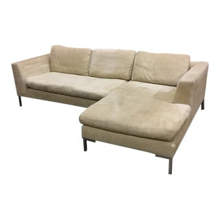 Beige Streamlined Sectional Sofa