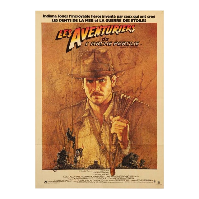 Lost Ark French Hunter Movie poster by Richard Amsel, 1981 For Sale