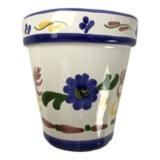 Vintage Majolica Wall Pocket Flower Pot