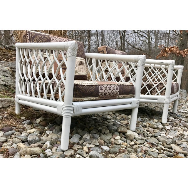 Vintage Willow & Reed Rattan Arm Chairs - A Pair For Sale In New York - Image 6 of 11
