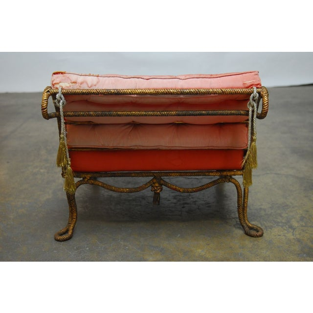 Napoleon III Gilt Rope Slipper Chair - Image 4 of 6