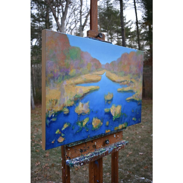 """Contemporary Landscape Painting by Stephen Remick """"Autumn at the Marsh"""" For Sale - Image 11 of 13"""