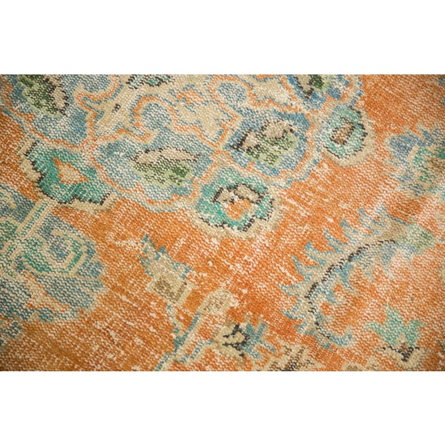 """Shabby Chic Vintage Distressed Oushak Carpet - 6'4"""" X 9'3"""" For Sale - Image 3 of 13"""