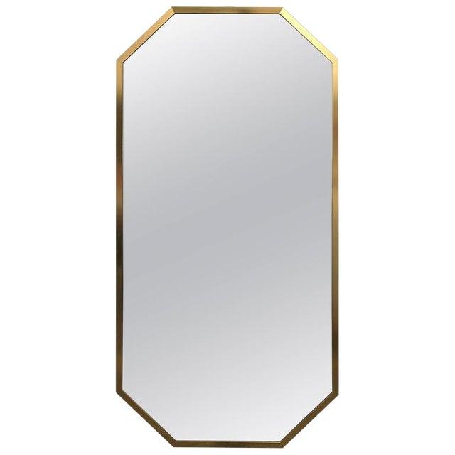 Mid-Century Modern Decorative Brass Framed Octagon Shaped Mirror - Image 1 of 6