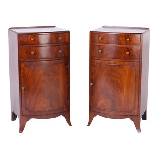 Georgian Style English Nightstands - A Pair For Sale