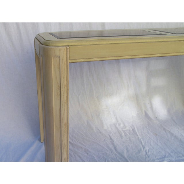 1980s White Washed Console from Yellow Pine - Image 5 of 6