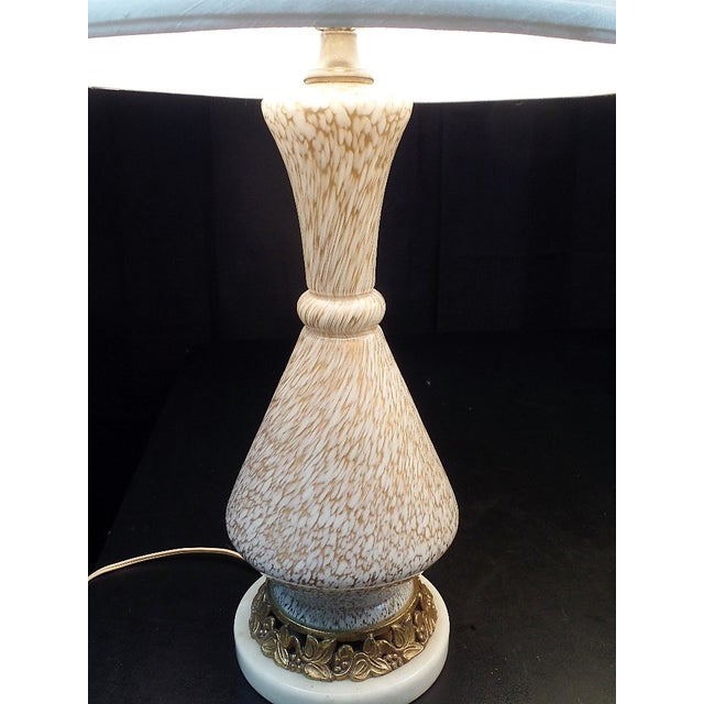 Barovier E Toso Style Murano Glass Table Lamps - a Pair For Sale In Savannah - Image 6 of 7