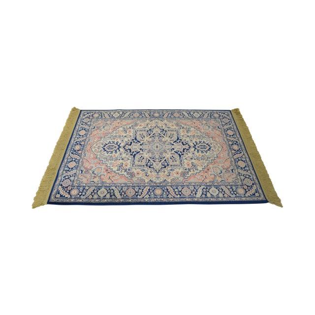 Karastan 4.3' x 6' Blue Heriz Area Rug #748 For Sale - Image 13 of 13
