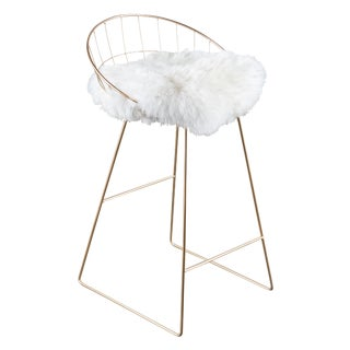 Statements by J Kylie Sheepskin Bar Chair
