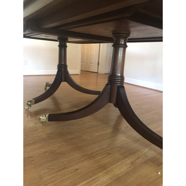 Grange Georgian Style Dining Table With Banded Border For Sale - Image 4 of 11