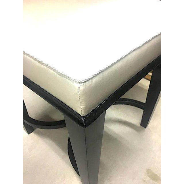 1950s Andre Arbus Superb Pair of Neoclassic Stool Newly Covered in Silk For Sale - Image 5 of 9