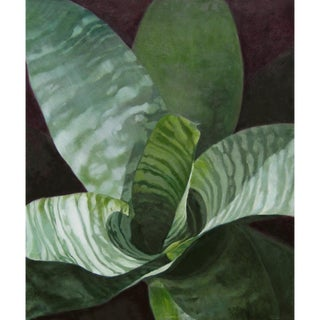 """Laurie Flaherty """"Moonlight"""" Contemporary Flora and Fauna Oil Painting For Sale"""
