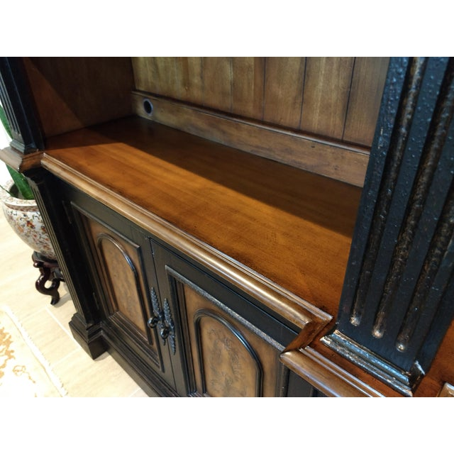 Library Cabinet - a Beautiful and Diverse Piece for Your Home or Office: Hooker Furniture Double Credenza & Double Bookcase (2 Pieces) For Sale In Orlando - Image 6 of 13