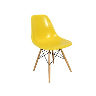 Eames for Herman Miller Yellow Fiberglass Chair For Sale