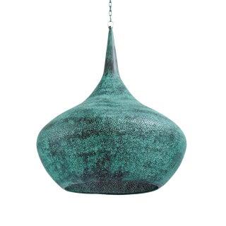 Copper Rain Drop Lantern Medium For Sale