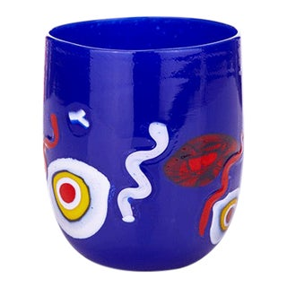 LagunaB Baby Dark Blue Handmade Murano Glass Tumbler For Sale