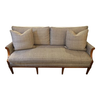Pearson Herringbone Tan Sofa For Sale