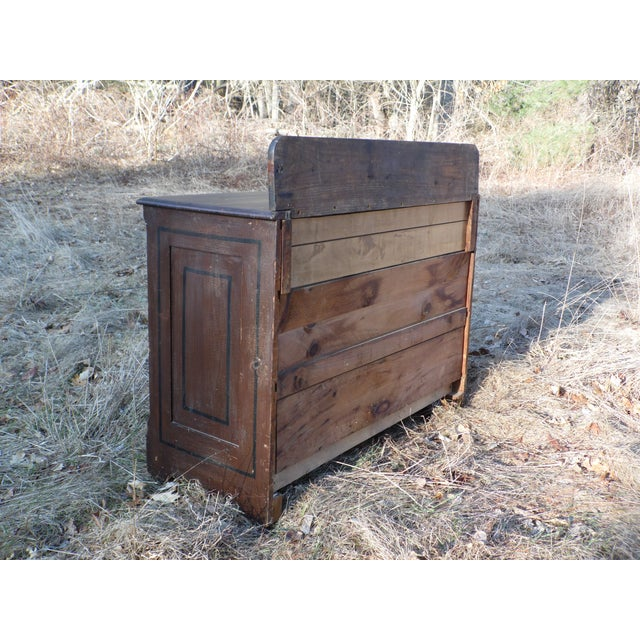 Antique Victorian Country Cottage Hand Painted Chest of Drawers Dresser Commode For Sale - Image 10 of 11