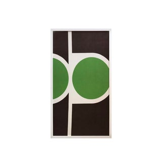 Mid-Century Modern Pop Art Textile Fabric Framed Peter McCulloch, 1968 For Sale