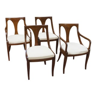 1980s Vintage Kindel Empire Dining Chairs - Set of 4 For Sale