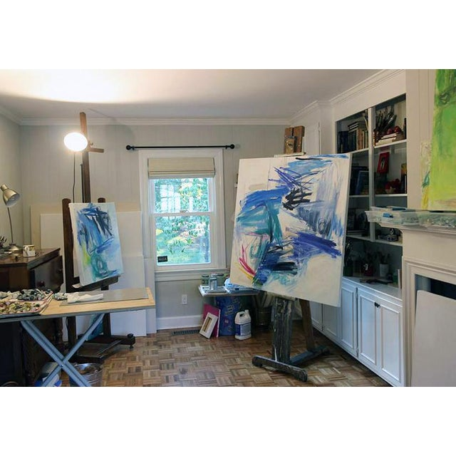 "Trixie Pitts's ""Chasing Coral"" Large Abstract Oil Painting For Sale In Nashville - Image 6 of 10"