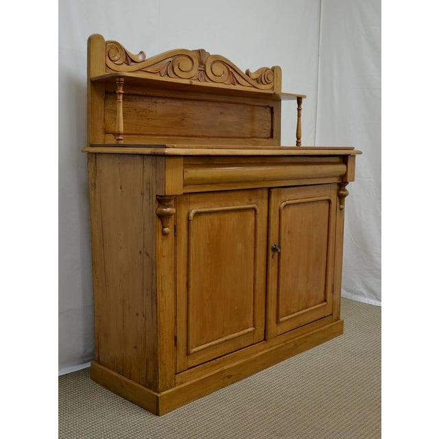 Country Country Pine and Beech Chiffonier For Sale - Image 3 of 10