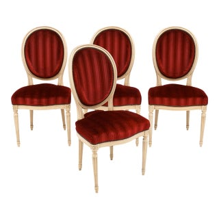 Four Louis XVI Style French Chairs For Sale