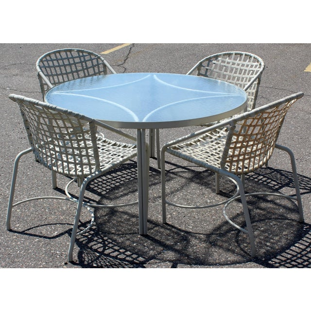 1960s Mid-Century Modern Pair of Brown Jordan Kantan Patio Dining Chairs, 1960s For Sale - Image 5 of 6
