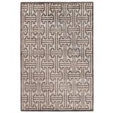 Image of Dartford Hand-Knotted Bamboo/Silk Ivory Rug - 10'x14' For Sale