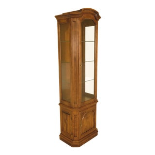 Ethan Allen Maple Curio Display Cabinet For Sale