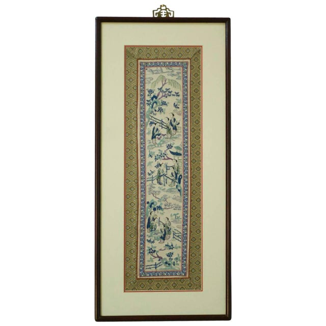 19th Century Chinese Embroidery Panel - Image 1 of 8