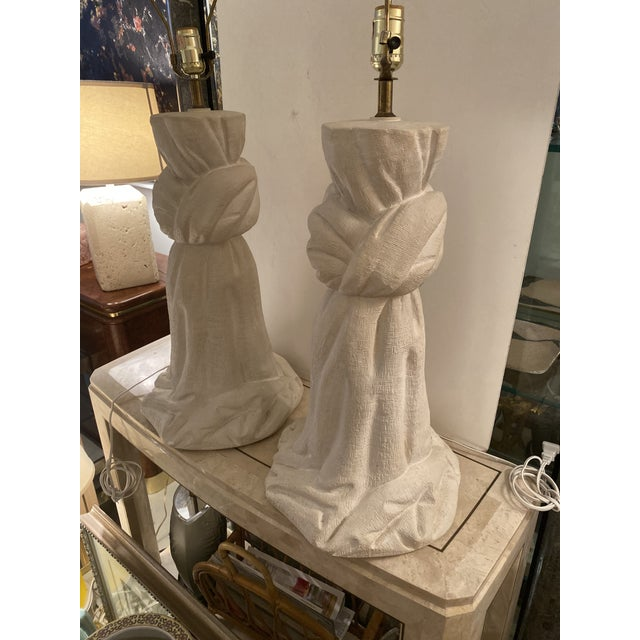 Pair of Plaster Lamps on the Style of John Dickinson For Sale - Image 13 of 13