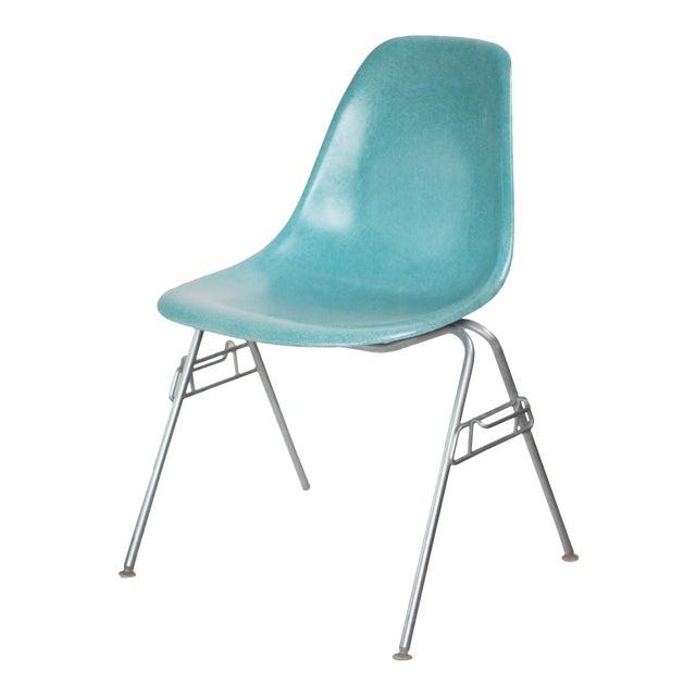 Turquoise Herman Miller Fiberglass Eames Shell Chair For Sale