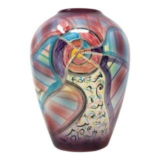 Harris-Cies Studio Pottery Terra Cotta Vase For Sale