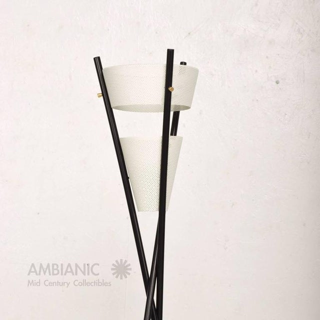 Mid Century Modern Black Tripod Floor Lamp After McCobb For Sale - Image 4 of 7