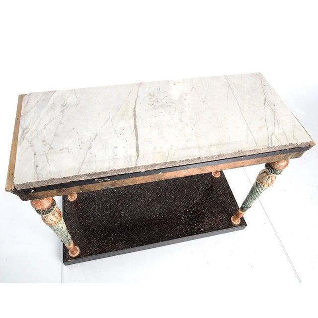 Late-Gustavian Console Table For Sale - Image 4 of 5