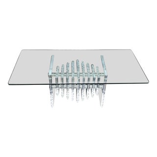 Mid-Century Modern Lucite Cocktail Table / Coffee Table.