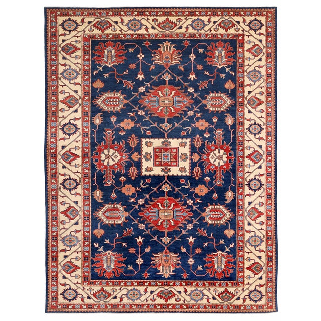 "Pasargad Kazak Area Rug - 9'0"" X 11'10"" For Sale"