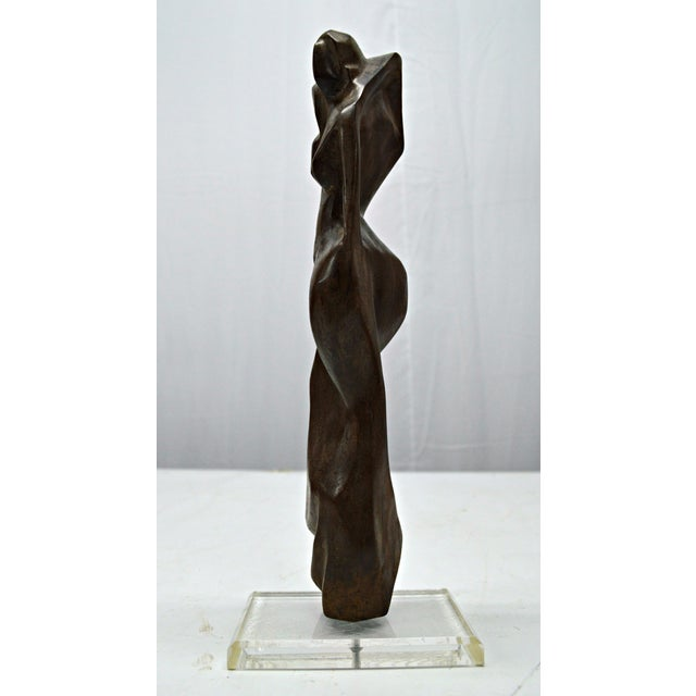 Hand Carved Wood Female Nude Sculpture - Image 2 of 11