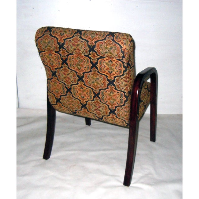 Cherry Wood Mid-Century Armchairs - A Pair - Image 6 of 7