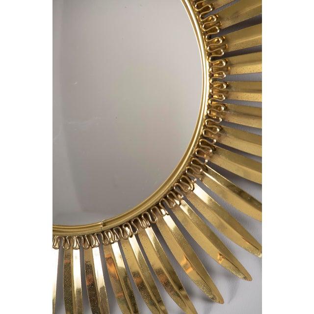 Italian Vintage Italian Metal Starburst With Convex Mirror For Sale - Image 3 of 10