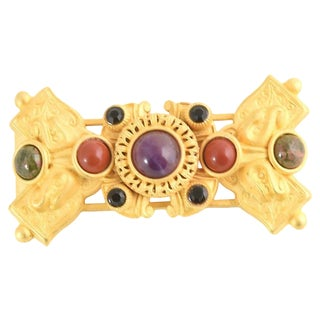 Stambouli Byzantine-Style Jeweled Brooch For Sale