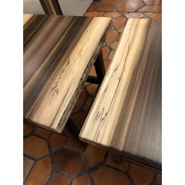 Wood Artisan Made Amish Custom Poplar End Tables -A Pair For Sale - Image 7 of 11