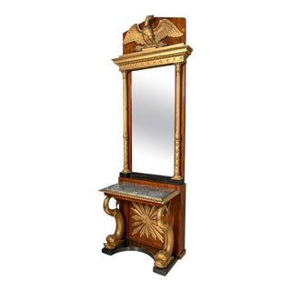 Swedish Neoclassical Console With Mirror For Sale