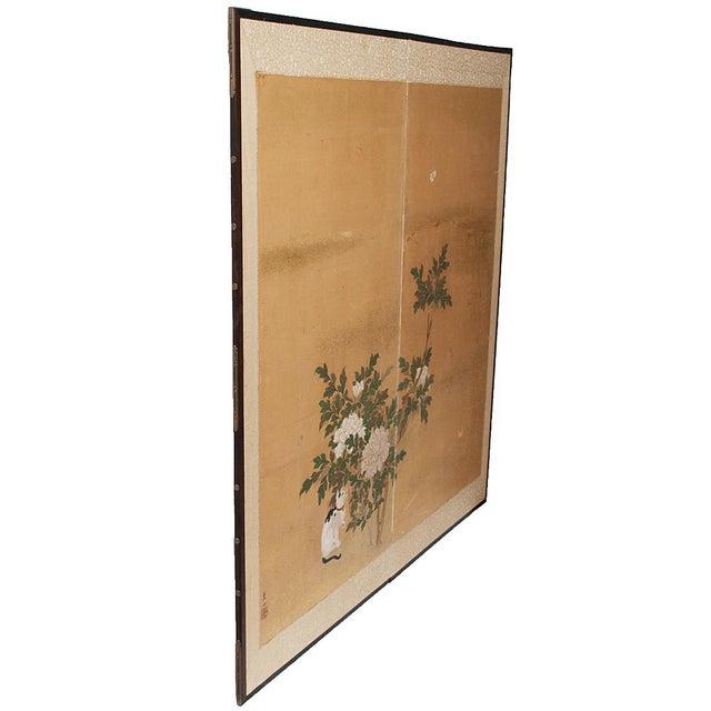 1880's Vintage Japanese Yamato-E Byobu Screen For Sale - Image 12 of 13