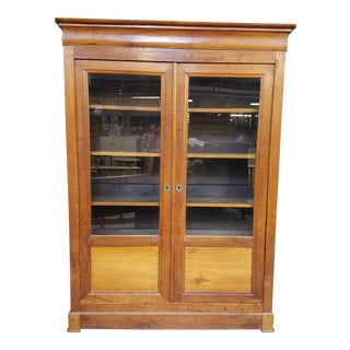 Louis Philippe Glass Book Case For Sale