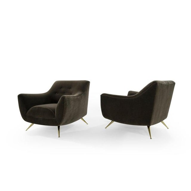 Henry Glass Henry Glass Lounge Chairs in Mohair - a Pair For Sale - Image 4 of 13